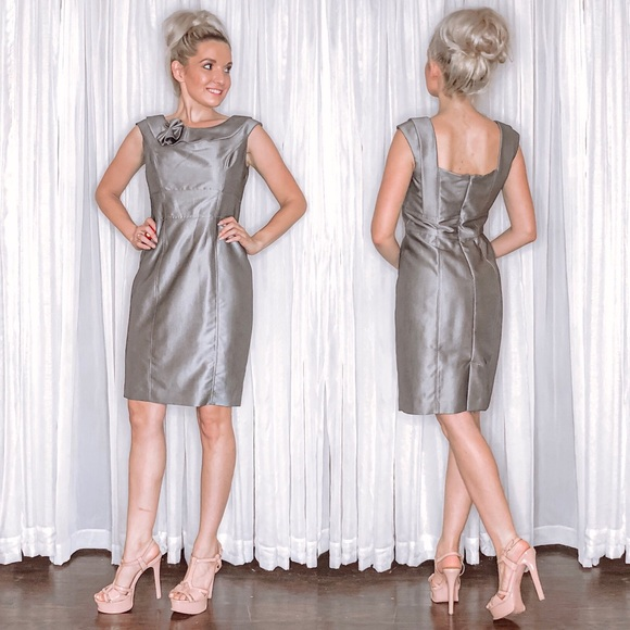 Calvin Klein Dresses & Skirts - Calvin Klein Classy Grey Silver Dress